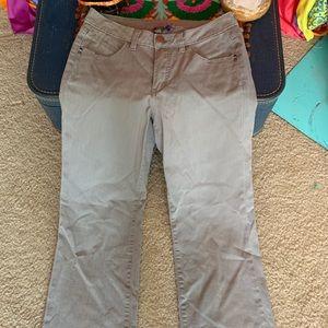 JAG Gray Denim Jeans Size 6P stretch Boot cut